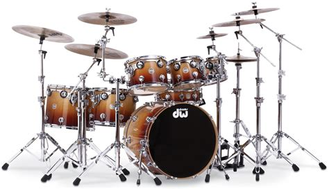 imagenes baterias musicales dw collector s series lacquer specialty burnt toast fade