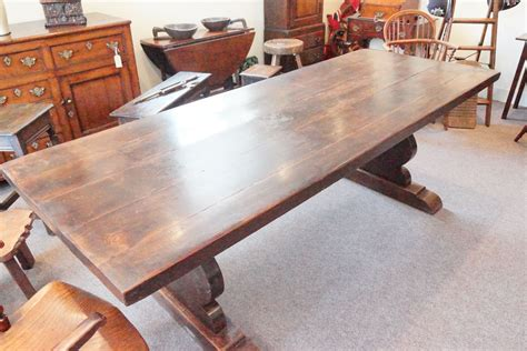 refectory dining table antique chestnut refectory dining table hingstons