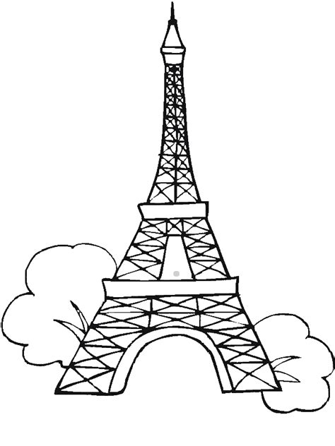 Sketches Of 7 Wonders In World by Seven Wonders Of The World Eiffel Tower Coloring Page