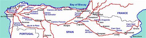camino trail map camino de santiago map map travel