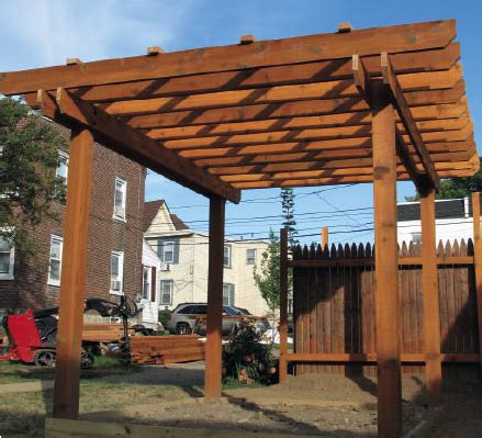 easy pergola instructions woodguides