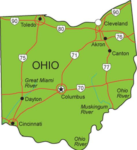 ohio map with major cities oh map ohio state map