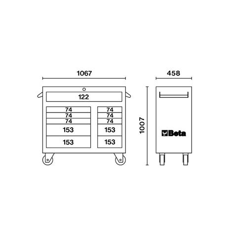 cassettiere porta attrezzi cassettiera porta attrezzi 11 cassetti arancione beta c38