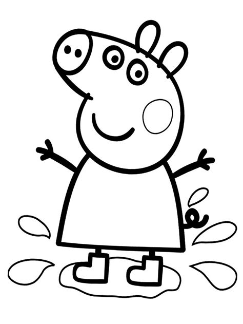 peppa pig para colorear pintar e imprimir im 225 genes de peppa pig para colorear dibujos de