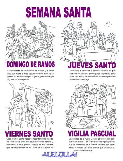 actividades de semana santa para inicial colorea la huamachuco cuarto ciclo fichas y manualidades semana santa