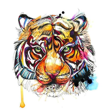 bengal tiger tattoo designs 41 best colorful tiger images on tiger