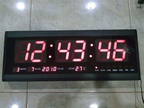 Jam Digital Led 32cm X 8 5cm jual jam dinding digital besar optima hardware