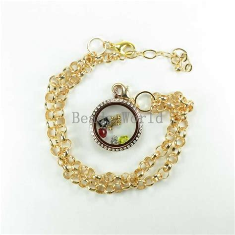 Origami Owl Necklace Charms - free shipping 1 pcs gold plated chain necklace charms for
