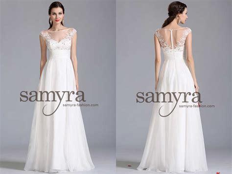 Preiswerte Brautkleider by Brautkleid Aus Chiffon Und Mit Spitze Samyra Fashion