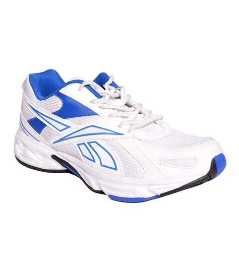buy reebok white and blue sports shoes for snapdeal