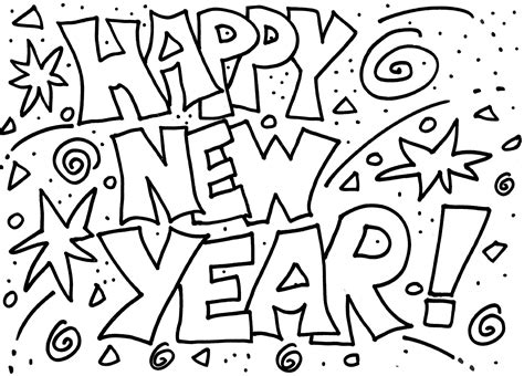 free coloring page happy new year happy new year coloring pages best coloring pages for kids