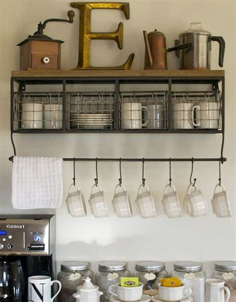 Mug Shelf Kitchen by Clever And Space Saving Hanging Systems For Mugs