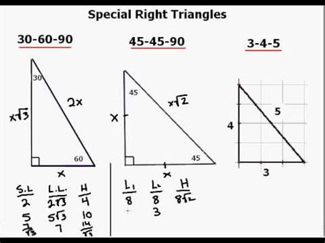 special right triangle explanation