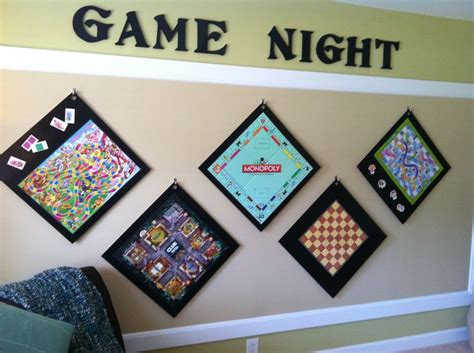 put game boards  wood hang  wall easy access cool