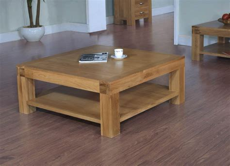 santana oak square coffee table