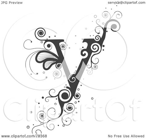 Royalty-Free (RF) Clipart Illustration of a Vine Alphabet ... V Alphabet Images In Heart