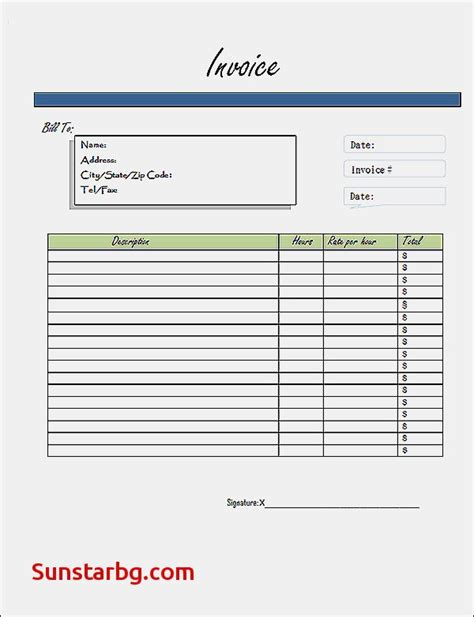 generic invoice template free generic invoices printable for invoice template