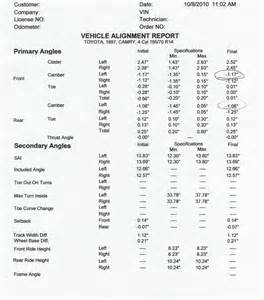 Truck Wheel Alignment Report Sheet Mercedes Sl Four Wheel Alignment Report Pictures Images