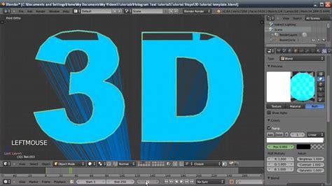 blender 3d hologram tutorial blender tutorial hologram text effect youtube