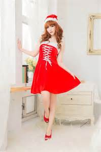 red color christmas dresses made with satin for girls