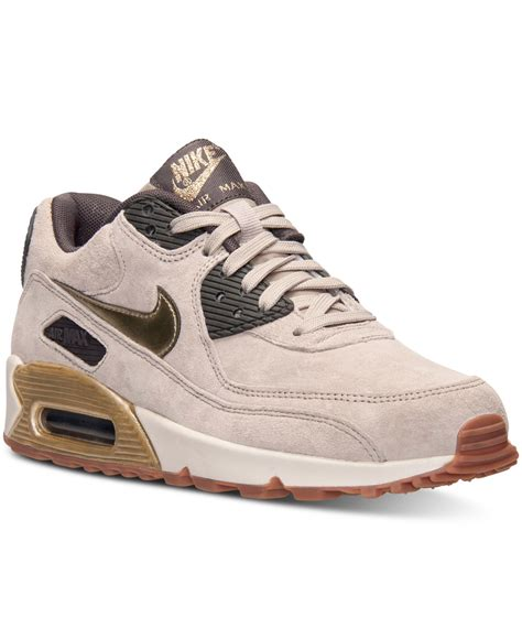 Nike Women's Air Max 90 Premium Suede Running Sneakers