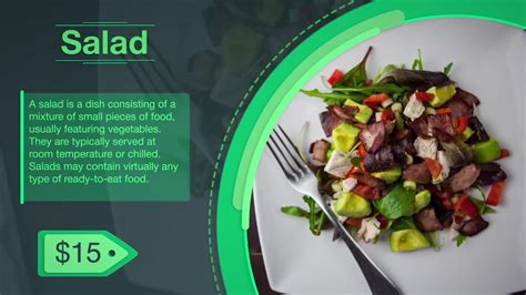 Food Menu Slideshow After Effects Templates Motion Array Food Menu Slideshow After Effects Template Free