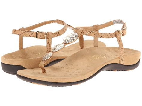 Vionic Gold Cork Sandal Wanita vionic womens gold cork comfort leather lizbeth sandal shoe 9 new ebay