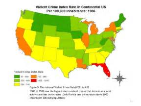 us crime map crimes report for continental u s 1980 2009