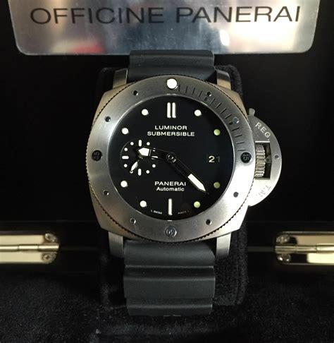 Jam Tangan Panerai Submersible Titanium Biru jual beli tukar tambah service jam tangan mewah arloji original buy sell trade in service