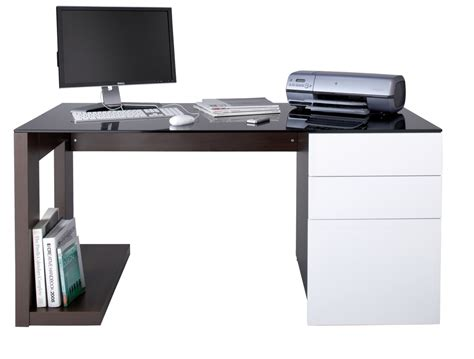 modern computer desk glass home office furniture ideas