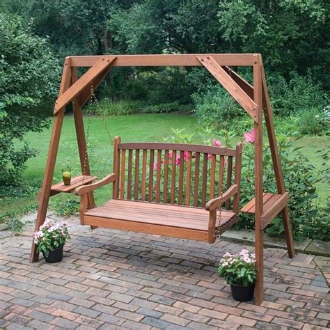 how to build a backyard swing frame great american woodies red cedar hanging porch swing frame