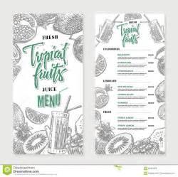 Fresh Restaurant Menu Template Stock Vector Illustration Of Lunch Drink 84891979 Tropical Menu Template Free