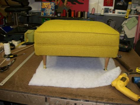 make your own pouf ottoman make your own mid century modern style ottoman vinyl lux