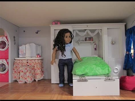 ag doll house tours american girl doll house tour update also a trash can craft idea youtube