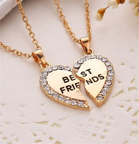 How To Buy Gold Jewelry 2 by Broken Best Friends Necklace Sweet Corner