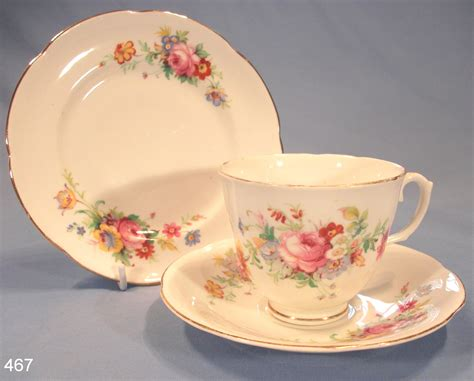 vintage china royal stuart floral vintage bone china tea cup saucer and