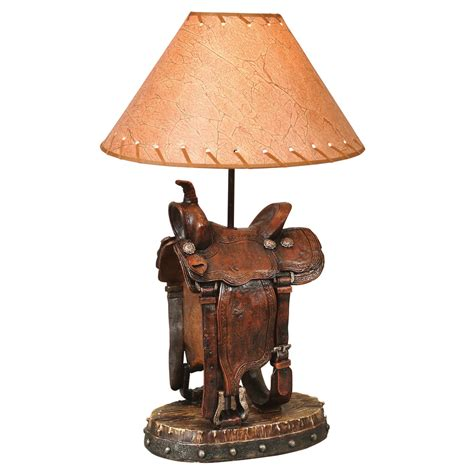 Southwest Dining Room Furniture by Saddle Table Lamp