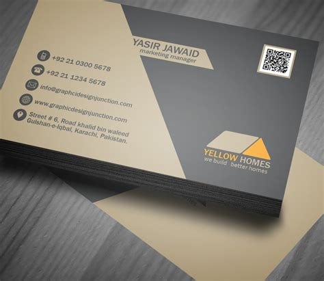 custom card template real estate business card psd template freebie on behance