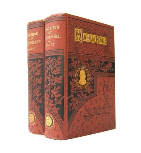 Waverley Novels Ivanhoe antique pair waverley novels kenilworth ivanhoe by