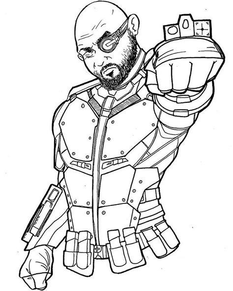 Dibujos para colorear: Deadshot imprimible, gratis, para