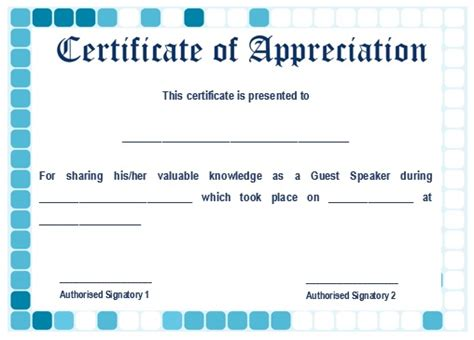 sle template of certificate of appreciation guest speaker template 28 images confirmation letter