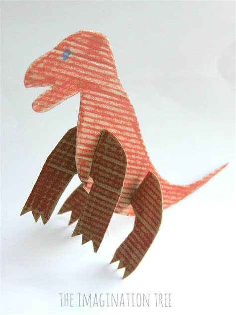 Dinosaur Craft For Kids - cardboard dinosaur craft for kids the imagination tree