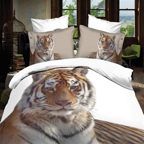 white tiger bedroom fast shipping christmas gift 3d white tiger bedding set