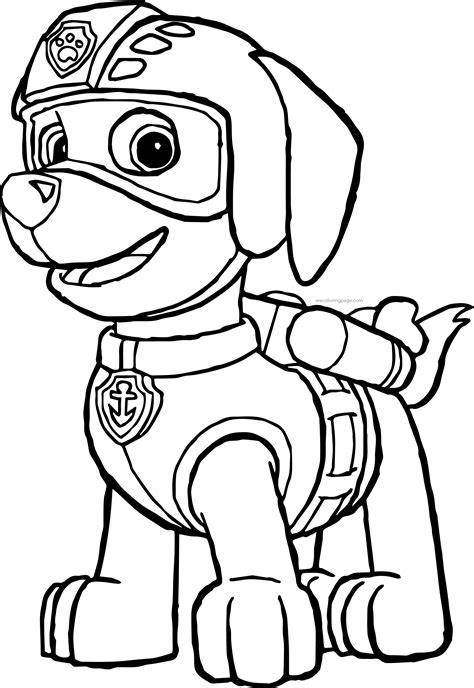 zuma coloring page paw patrol paw patrol coloring pages wecoloringpage