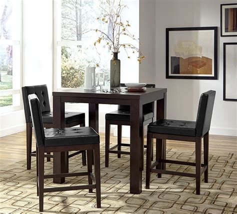 Square Dining Room Set by Athena Chocolate Counter Square Dining Room Set