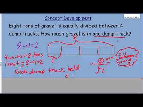 diagram eureka math eureka math module 4 lesson 4 diagrams to model fractions as division
