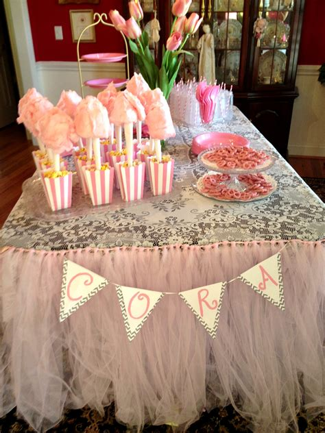 baby shower set up table set up for baby shower pink
