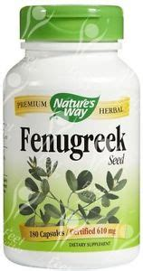 Natures Way Fenugreek 610mg 100 Kapsul T0310 fenugreek seed 610mg x180caps breast milk production ebay