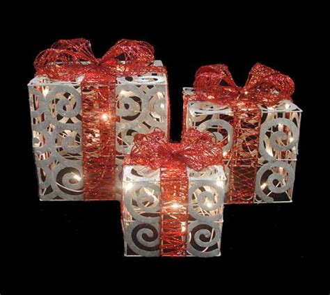 lighted gift boxes decorations outdoor lighted gift boxes gifts for everyone