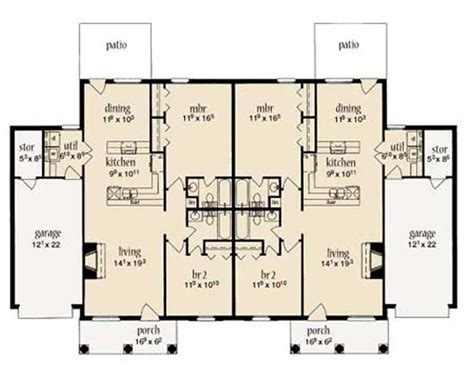 Multi Unit Home Plans by Multi Unit House Plans Home Design La Lande 9643